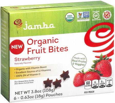 Jamba Fruit Snack Strawberry Organic, 3.8 oz