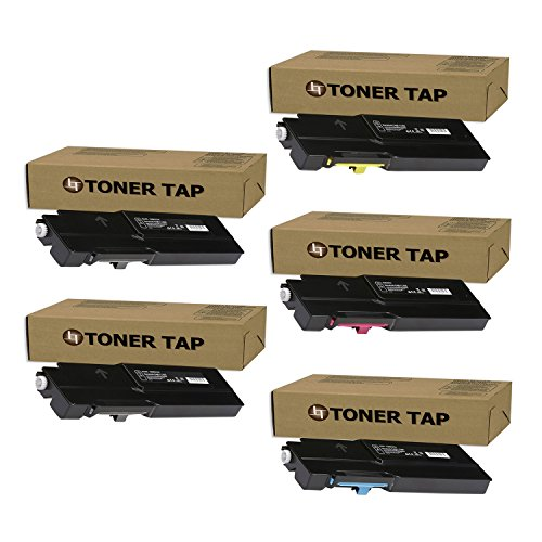 Compatible High Yield Toner - Extra High Yield Toner Tap Compatible for Xerox VersaLink C400 C405 C400D C400DN C405DN C405N MFP (106R03524 106R03526 106R03527 106R03525, 5-Pack)