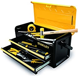 """Stanley Tools and Consumer Storage STST19502 Metal Box with 2 Drawers, 19"""""""