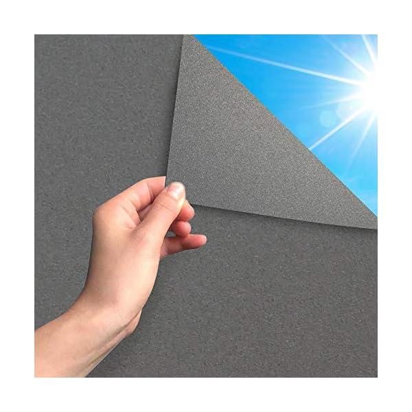 51ced2Qf36L MARAPON ® Sichtschutzfolie Fenster in Anthrazit [45x200 cm] inkl. eBook mit Profitipps - Fensterfolie selbsthaftend…
