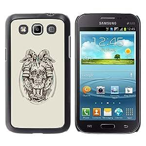 iKiki Tech / Estuche rígido - Cráneo de cuernos del demonio - Samsung Galaxy Win I8550