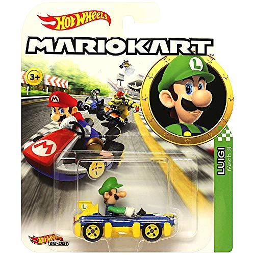 Hot Wheels Luigi Super Mario Kart Character Car Diecast 1:64 Scale (Best Mario Kart Vehicle)