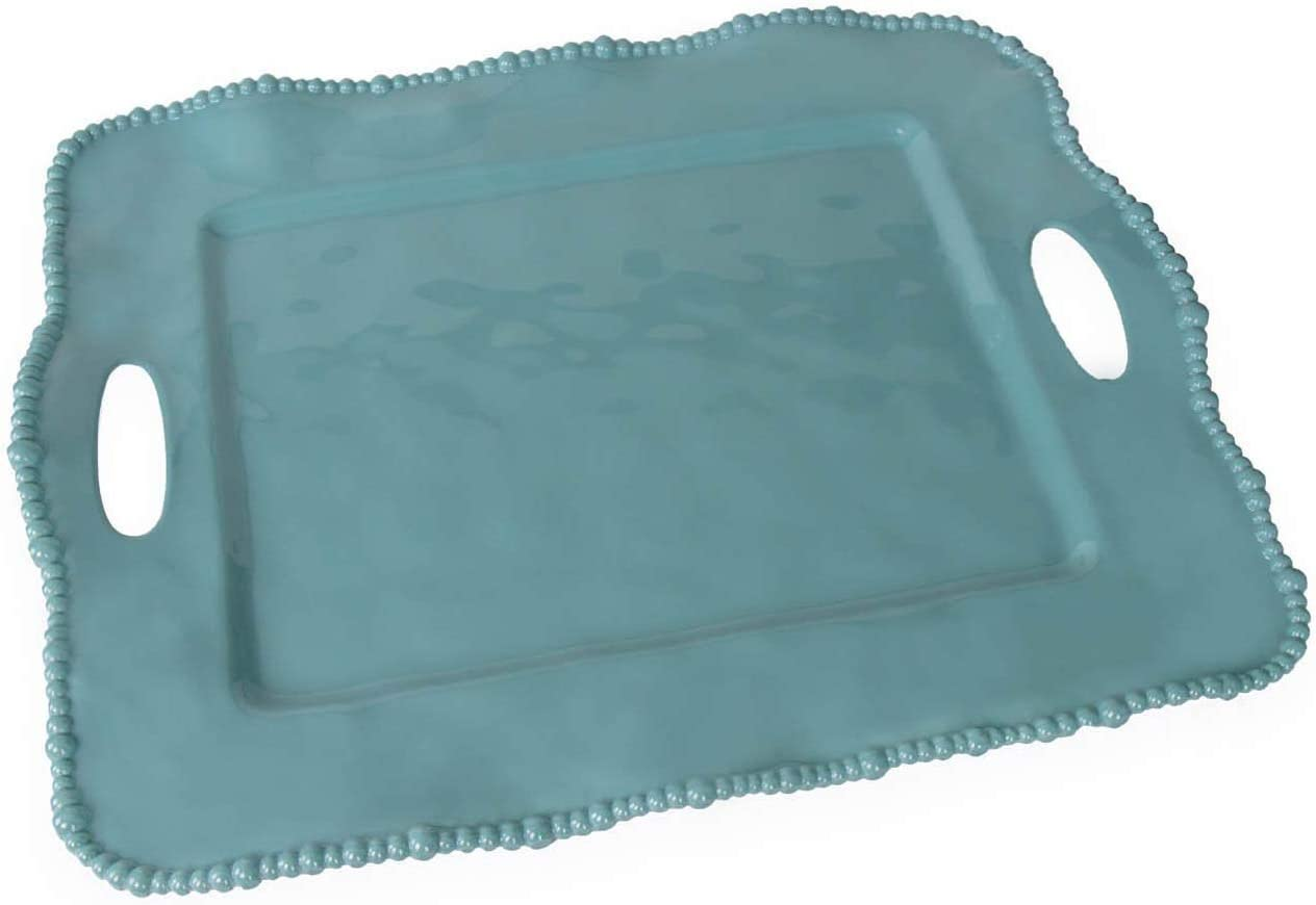 Beatriz Ball Alegria Rectangular Tray with Handles, Blue [並行輸入品]