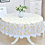 PVC Tablecloths Waterproof Kitchen Table Cushions Tablecloth Anti-hot Anti-oil Disposable Tablecloths Pastoral Size 220220cm ( Color : D )