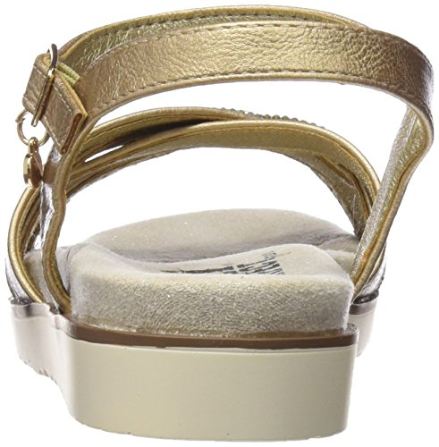 XTI Damen 47664 Knöchelriemchen Sandalen Gold