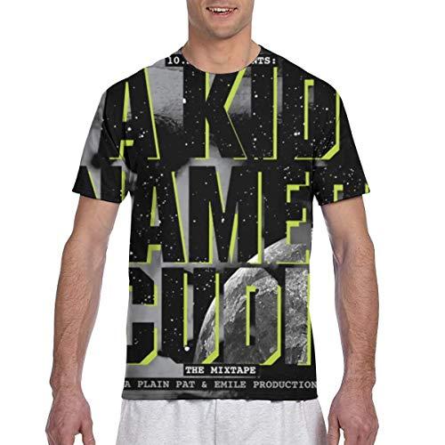 Bob L Barrera Kid Cudi A Kid Named Cudi Comfort Man Short Sleeve Print T-Shirt XL Black (Named A Cudi Kid)