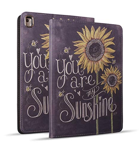 iPad Mini 5 Case, Mini 4 Case, iPad Mini 1/2/3 Case, Protective Leather Case, Adjustable Stand Auto Wake/Sleep Smart Case for iPad Mini 5th/4th Gen 7.9 inch - Sunflower, You are My Sunshine