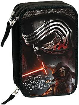 Star Wars Plumier Triple, Estuche con 45 Piezas, niño: Amazon.es: Equipaje