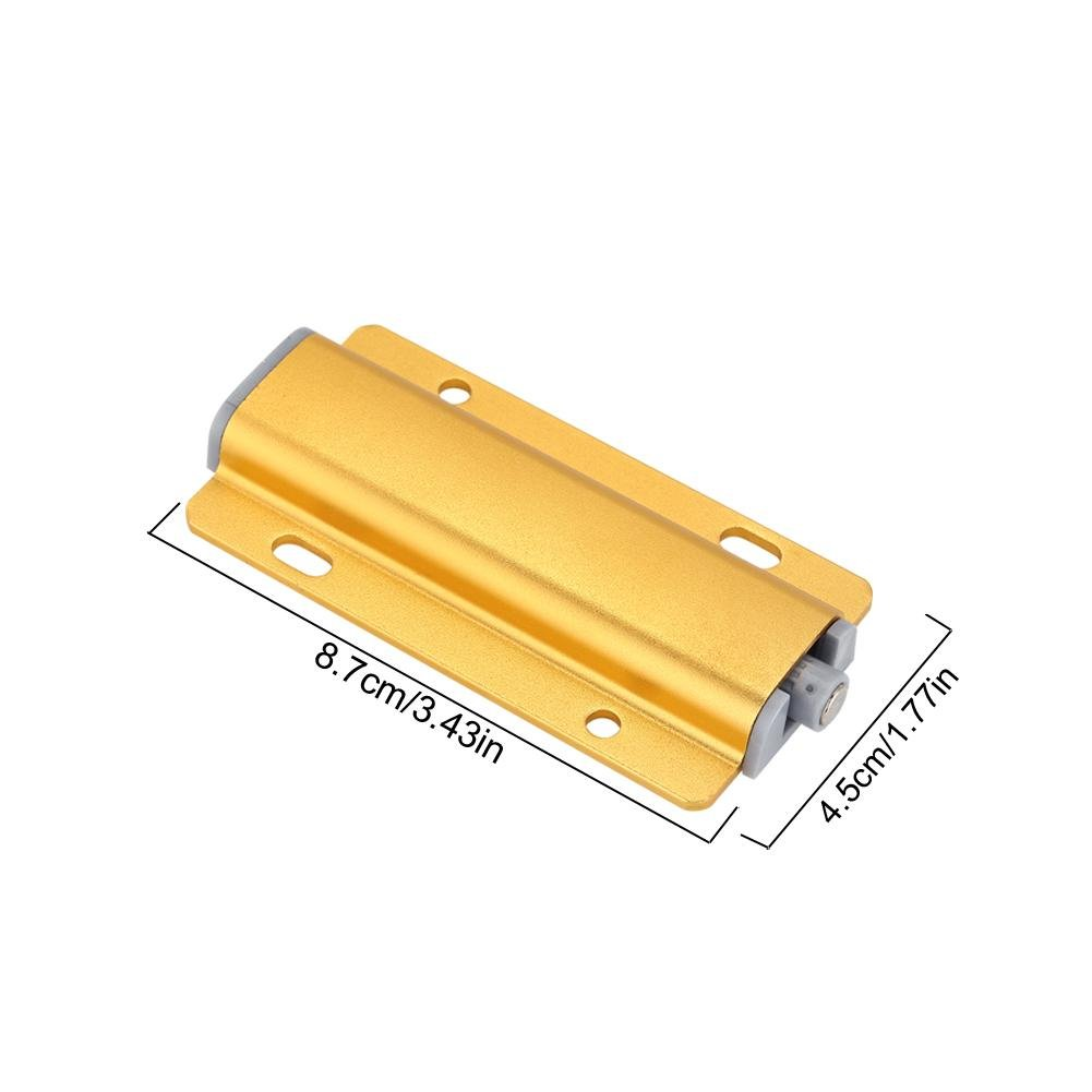 Yosooo Cabinet Door Drawer Damper Buffer Push To Open System Latch with Magnetic Tip 5 Pcs(Gold) by Yosooo (Image #2)