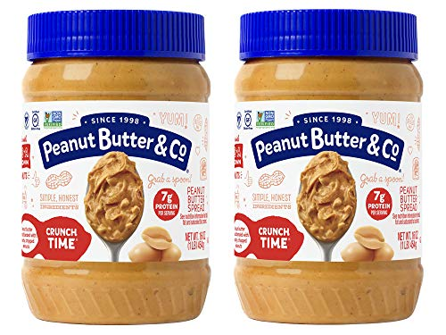Peanut Butter & Co. Crunch Time Peanut Butter, Non-GMO Project Verified, Gluten Free, Vegan, 16 Ounce Jars (Pack of 2)
