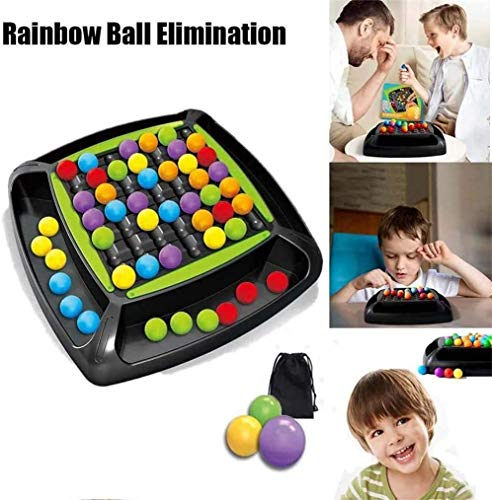 Akerfu Rainbow Ball Elimination Game Rainbow Puzzle Magic Chess Toy Set para niños Adultos (1set)