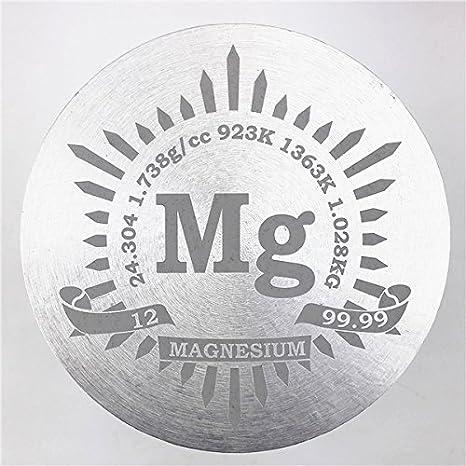 1 kg Bellas inflexión magnesio Metal Cilindro 91 x 91 mm 99,99% grabado tabla periódica: Amazon.es: Industria, empresas y ciencia