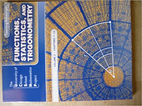 Book Functions, Statistics, and Trigonometry: Teaching Resources, Volume 1, Chapters