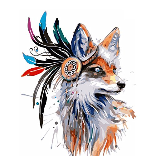 Fairylove 40 x 50 Paint by Numbers for Adults DIY Oil Painting ,Feather Fox