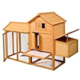 HPD Deluxe Wooden Chicken Coop Hen House Poultry Cage Hutch 80''L x 27.6''W x 52.4''H