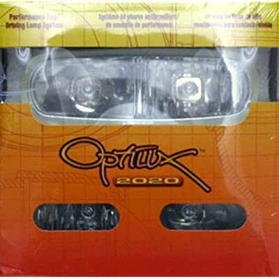 HELLA Optilux H71010321 Model 2020 12V Black Dual Beam Halogen Fog/Driving Lamp Kit: Automotive