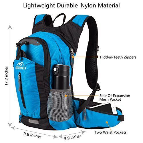 Review RUPUMPACK Insulated Hydration Backpack Pack with 2.5L BPA FREE Bladder – Keeps Liquid Cool up to 4 Hours, Lightweight Daypack Water Backpack For Hiking Running Cycling Camping, 18L