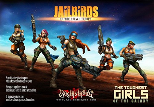Raging Heroes Miniatures - Jailbirds 28mm Coyote Crew - Troops