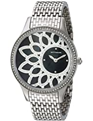 Bulova Womens Quartz Stainless Steel Casual Watch, Color:Silver-Toned (Model: WN4084)