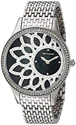 Bulova Women's Quartz Stainless Steel Casual Watch, Color:Silver-Toned (Model: WN4084)