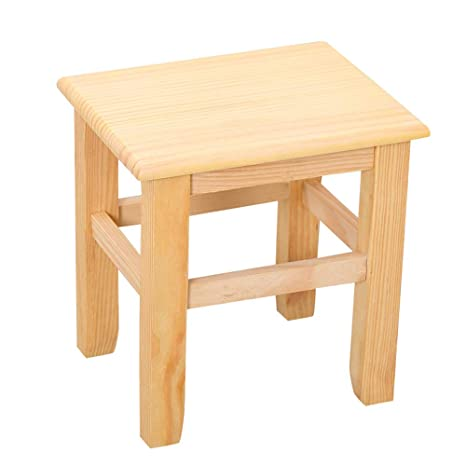 Fabulous Amazon Com Solid Wood Stool Non Slip Wear Pad Tenon Wood Andrewgaddart Wooden Chair Designs For Living Room Andrewgaddartcom