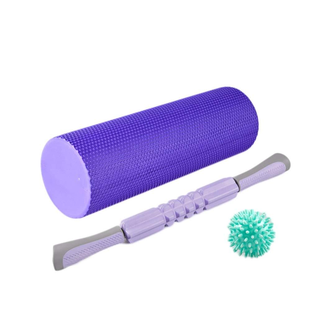 violet Suit Relaxation Musculaire De Colonne De Yoga De Rouleau De Yoga De Massage De Relaxation De Muscle De Rouleau De Stovepipe Débutant La Masse HUXIUPING (Couleur   bleu, Taille   Suit)