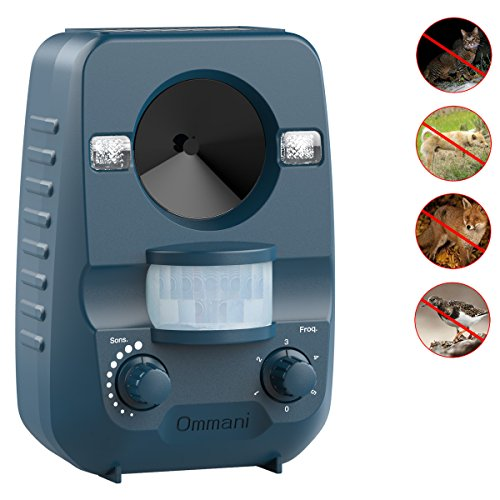 Ommani Cat Repellent Ultrasonic Solar Power Battery Operated Outdoor...