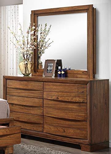 Sunset Trading SS-BJ600-DR_MR Sonona Storage Bedroom Dresser & Mirror, Warm Chestnut ()