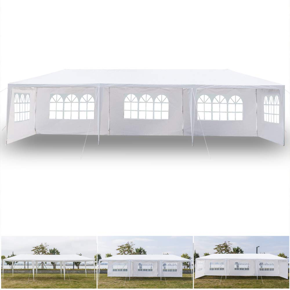 Lovinland 3 x 9m Five Sides Waterproof Tent with Spiral Tubes