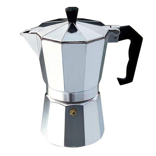 MqbY - Cafetera italiana de aluminio para 3 tazas: Amazon.es: Hogar