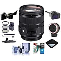Sigma 24-70mm F2.8 DG OS HSM IF ART Lens for Nikon Cameras - Bundle With 82mm Filter Kit, Peak Lens Changing Kit Adapter, Flex Lens Shade, FocusShifter DSLR Follow Focus, Software Package, And More