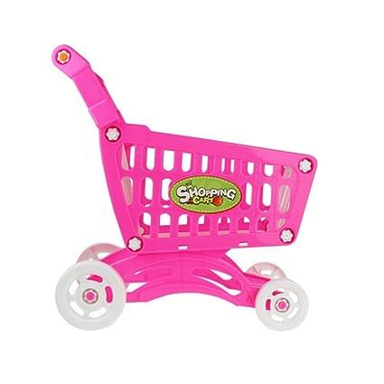 Fairylove - Carrito de la compra, juguetes para frutas, verduras, supermercado, carrito