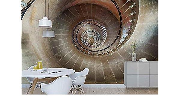 Fotomurales - Murales moderna de Diseno Techo de valla de escalera de caracol - Construcción- Decoración de Pared decorativos - 200x140cm: Amazon.es: Bricolaje y herramientas
