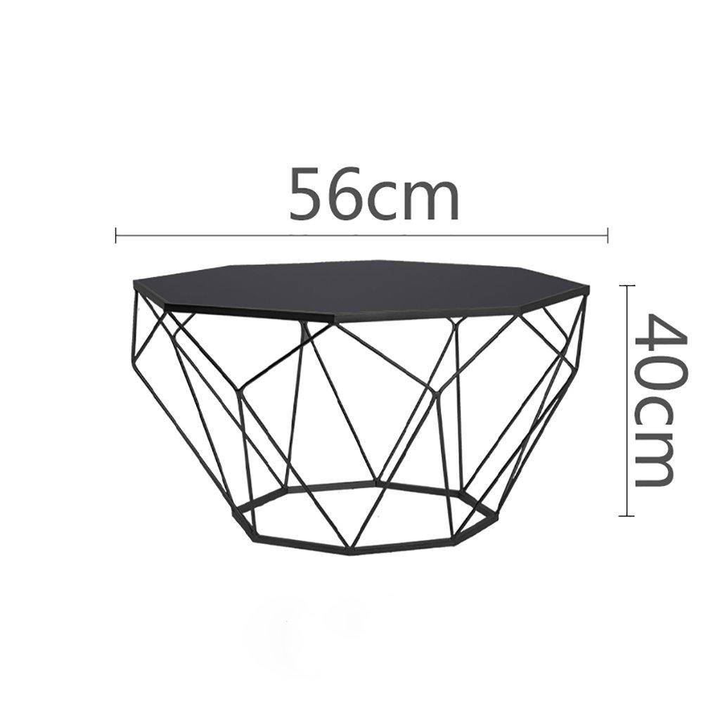 北欧の創造的な家具丸いガラスのコーヒーテーブルリビングルームの個性鉄テーブル現代的なミニマリストの鉄ガラスのソファのサイドテーブル (色 : B, サイズ さいず : 56*40cm) B07F7ZYNS8 56*40cm|B B 56*40cm