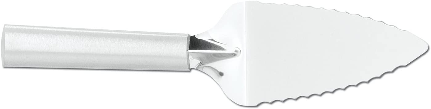 Rada Cutlery Serrated Pie Server – Stainless Steel With Aluminum Handle Made in the USA, 9-1/4 Inches