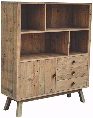 Roma Reclaimed pino ampio display libreria, legno/grezzo/sala da ...