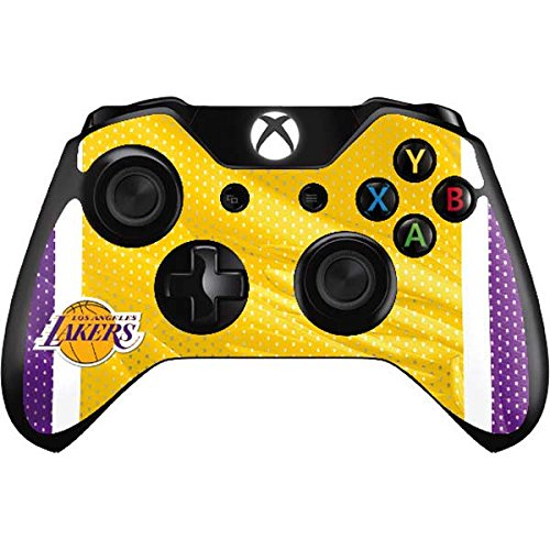 NBA Los Angeles Lakers Xbox One Controller Skin - Los Angeles Lakers Home Jersey Vinyl Decal Skin For Your Xbox One Controller by Skinit