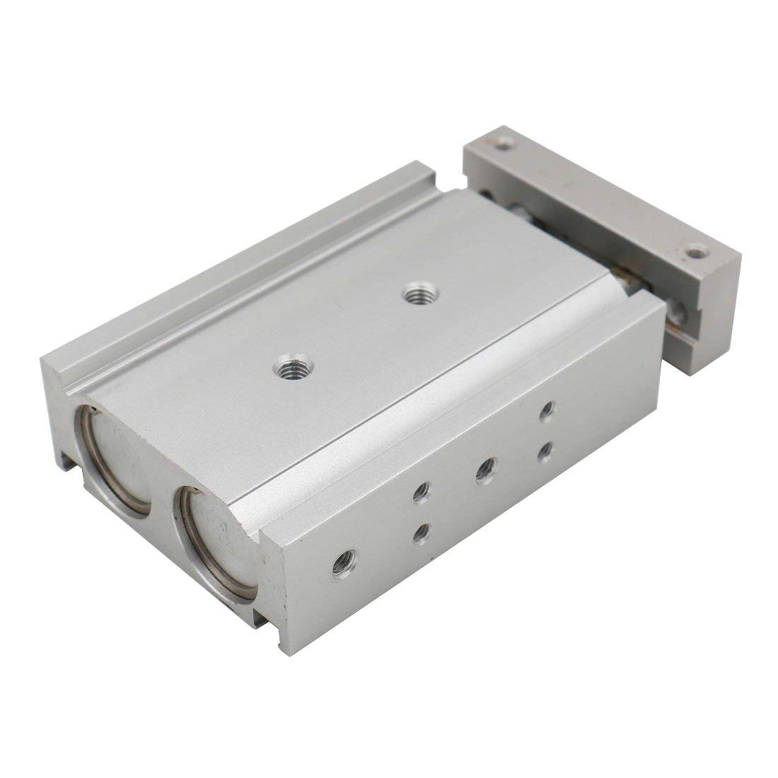 Baomain Compact Aluminum Air Cylinder CXSM 15-40 Guide Rod Plate Double Rod Guided Pneumatic Slide Bearing Cushioned