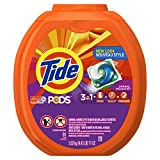#9: Tide PODS 3 in 1 HE Turbo Laundry Detergent Pacs, Spring Meadow Scent, 81 Count Tub - Packaging May Vary