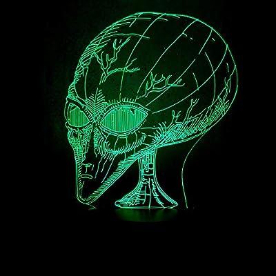 Luz Nocturna Usb De Lado, Cabeza Extraterrestre, Luces 3D ...