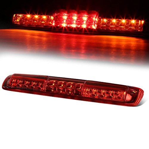 For Silverado/Sierra GMT800 High Mount Dual Row LED 3rd Brake/Cargo Light (Red Lens) by Auto Dynasty
