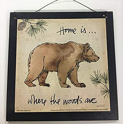 Amazon Com Black Bear Home Is Where The Woods Are Cabin