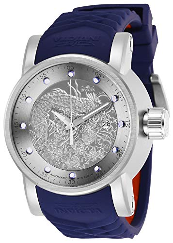Invicta Men's Automatic-Self-Wind Watch with Stainless Steel Strap, Blue, 24 (Model: - Watch Mens Antique
