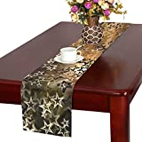 Star Sky Graphic Night Texture Table Runner, Kitchen Dining Table Runner 16 X 72 Inch for Dinner Parties, Events, Decor