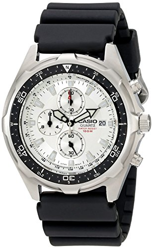 Casio Men's AMW330-7AV Stainless Steel Watch with Black Resin Strap