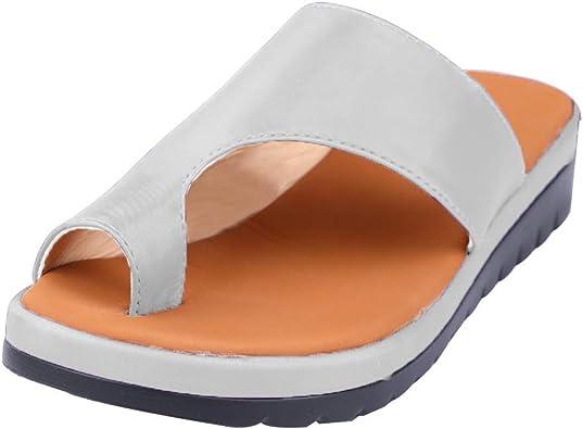 Sandales Femmes Sandales avec Plateforme Chaussures de Voyage Confortables pour la Plage Sandales d'été Espadrilles pour Femmes à Bout Ouvert Sandals