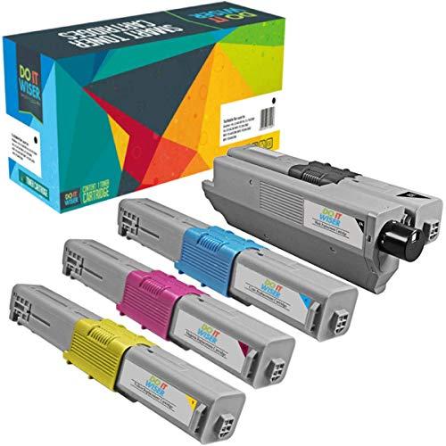 Do it Wiser Compatible Toner Cartridge Replacement for Oki MC362w C531dn MC361 C330dn C331dn MC351dn C310dn C330 C530dn MC561 C510dn C511dn C312dn MC361dn MC352dn MC362dn MC562dn (4-Pack) ()