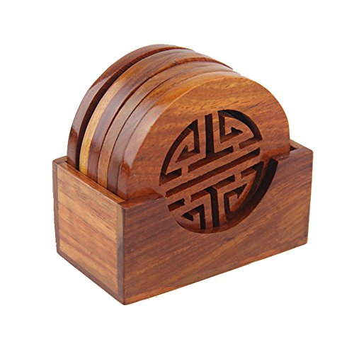 KISENG 7 in 1 Wood Pot Holder Kitchen Tool, Trivet Mat, Pot