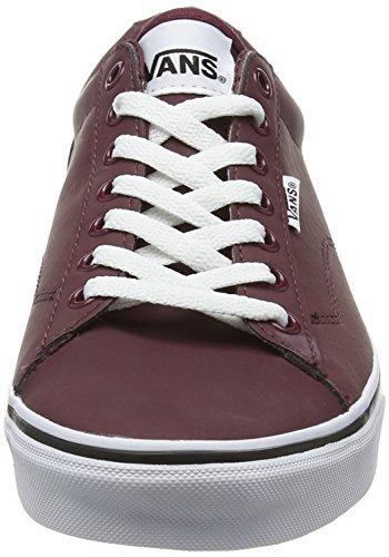 Vans Dawson, Zapatillas para Hombre Rojo (Leather port/white)