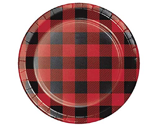 Buffalo Plaid Dessert Plates, 48 ct -